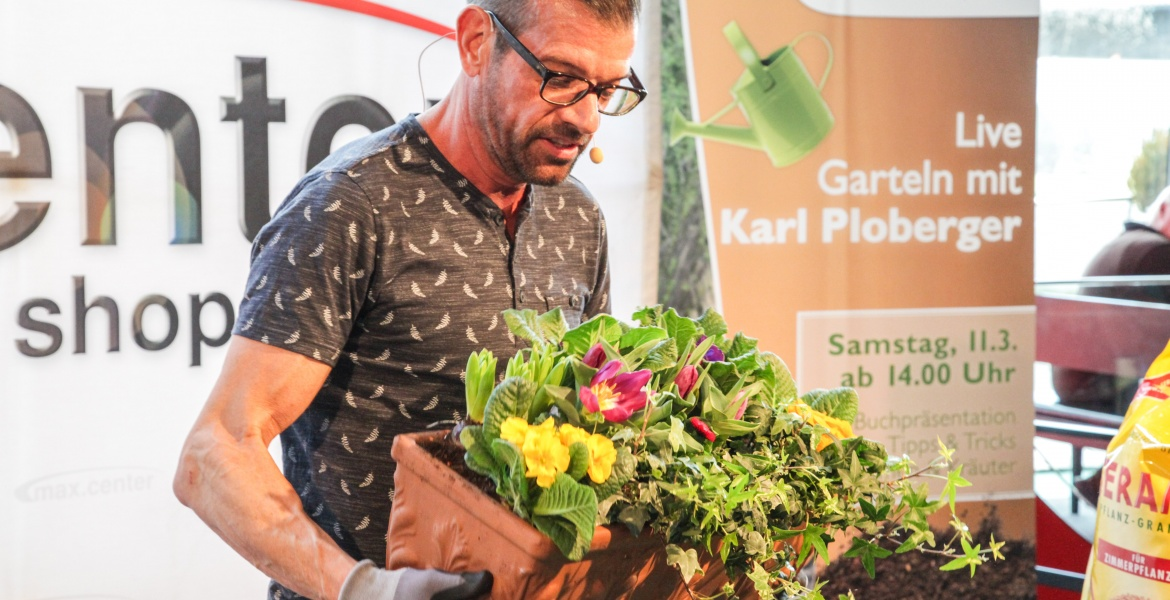 Karl Ploberger im max.center Wels